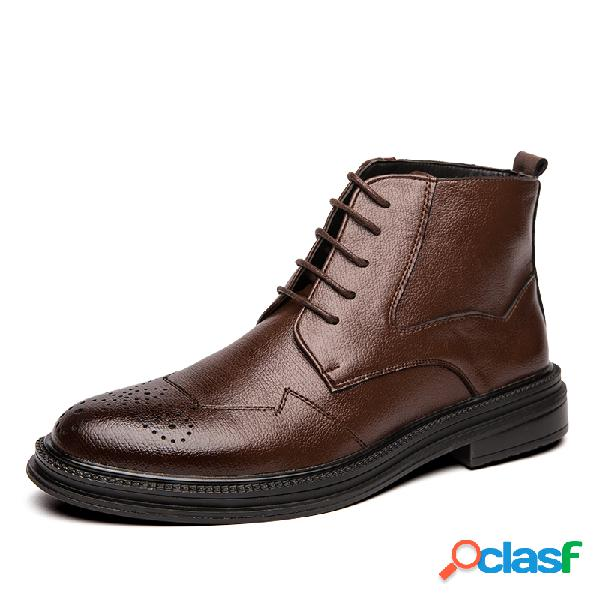 Hombre brogue comfy microfiber leather business vestido tobillo botas