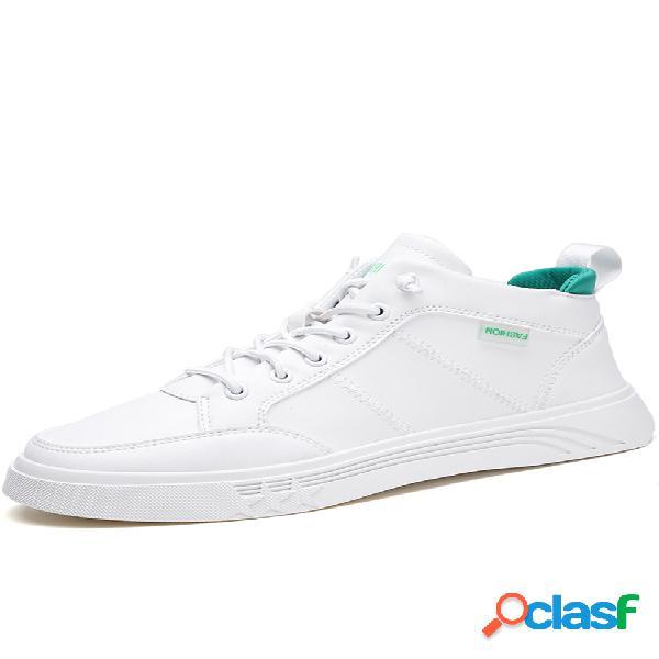 Zapatillas deportivas de cuero de microfibra antideslizantes para hombre