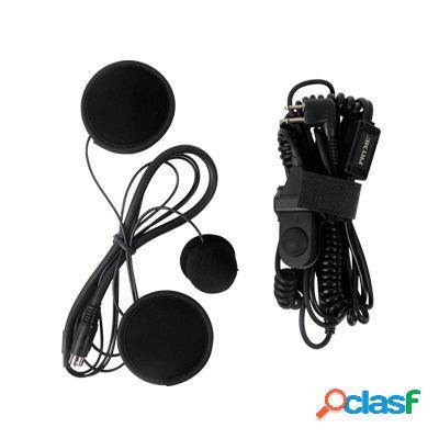 Pryme auricular con micrófono para radio spm-803f, negro, para motorola