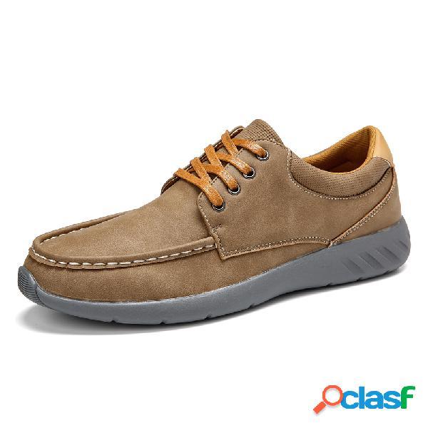 Menico hombres zapatos de microfibra de cuero soft suela antideslizante zapatos casuales