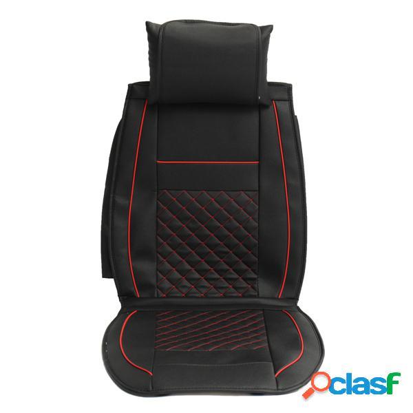 10 piezas de cuero de pu coche funda de asiento juego de funda de asiento delantero y trasero de 5 asientos costura envolvente completa