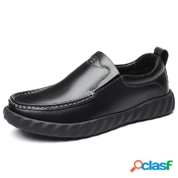 Hombre piel de microfibra antideslizante soft suela sin cordones zapatos casuales