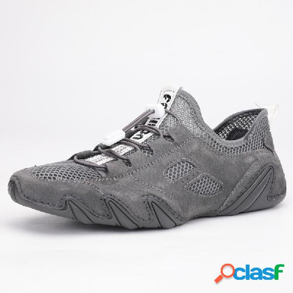 Hombres malla transpirable antideslizante soft al aire libre zapatos casuales