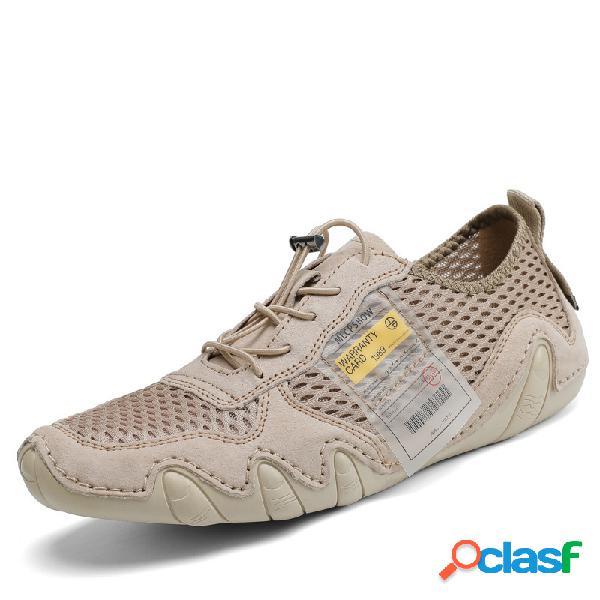 Hombres malla transpirable soft al aire libre zapatos casuales