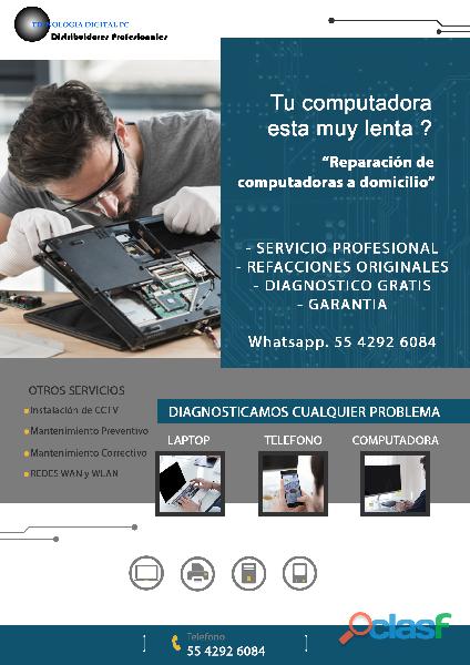 Reparación, mantenimiento preventivo y correctivo a computadoras