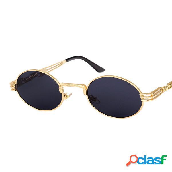 Mujer classic gafas de sol steampunk redondas góticas viajar con montura metálica informal uv400 gafas