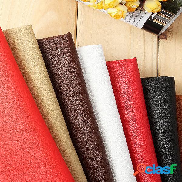 Pequeño lychee pu tela de cuero de imitación de cuero coche cuero de tapicería interior 0.5x1.5m