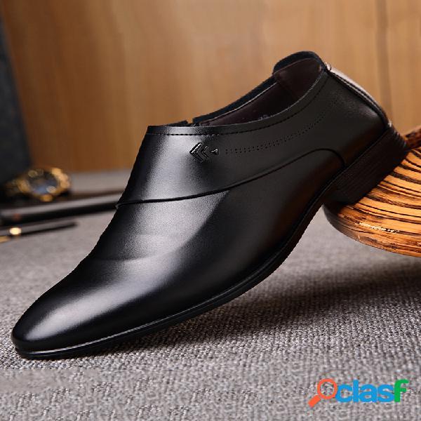 Zapatos formales de cuero de microfibra para hombres