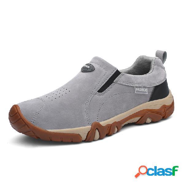Resbalón respirable de los hombres en al aire libre zapatos de senderismo antideslizantes