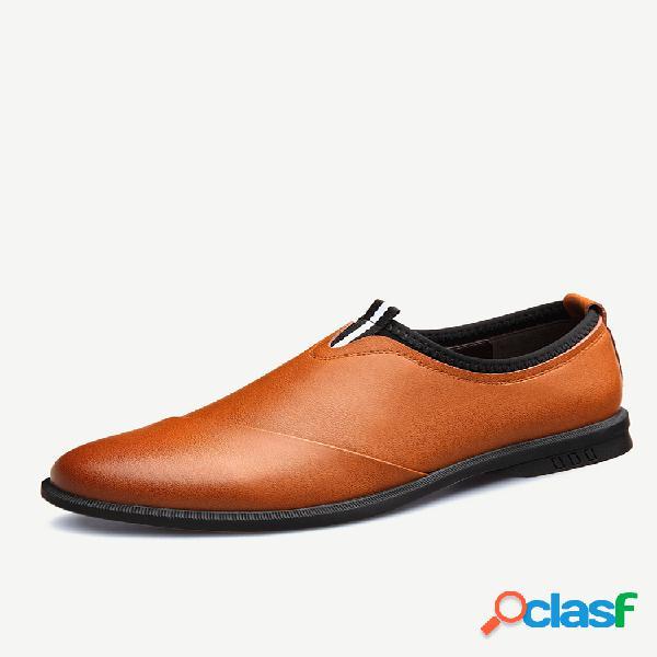 Hombre piel de microfibra antideslizante soft zapatos formales casuales con suela