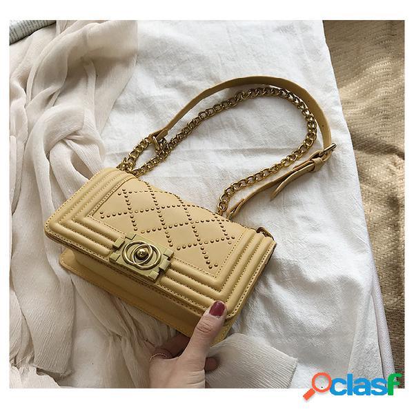 Mujer bolso rhombic chain small square bolsa bolso