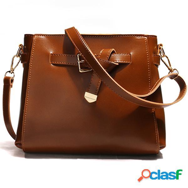 Vendimia mujer crossbody bolsa cuchara bolsa hombro retro sólido bolsa