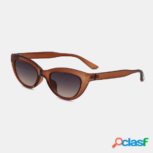 Mujer gato eye sgape full frame tendencia de moda casual uv gafas de sol de protección
