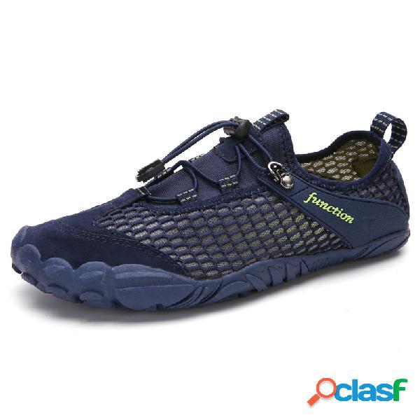 Hombres de secado rápido de malla transpirable soft playa zapatos de agua