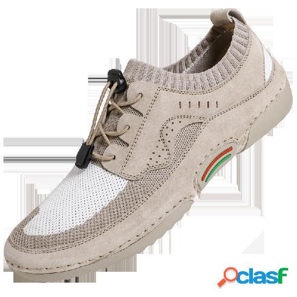 Hombres antideslizantes transpirables soft al aire libre zapatos casuales