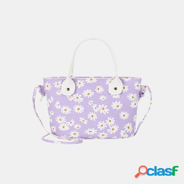Mujer daisy bucket bolsa satchel bolsa crossbody bolsa