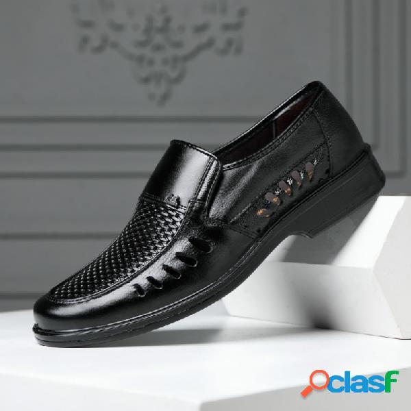 Hombres pu cuero ahueca hacia fuera breatrhable business casaul vestido zapatos
