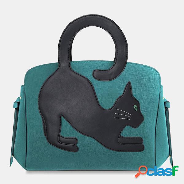Mujer gato patrón tote bolsa bandolera bolsa