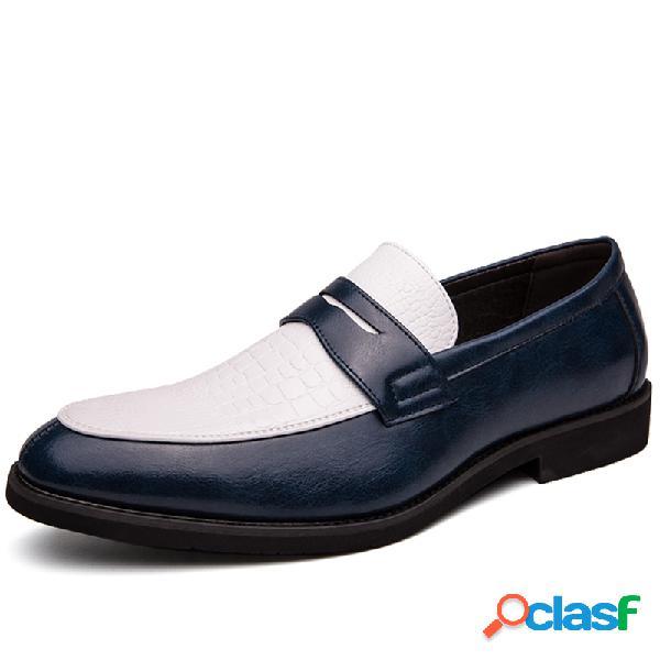 Hombres de microfibra de cuero antideslizante antideslizante en los zapatos formales de negocios informal