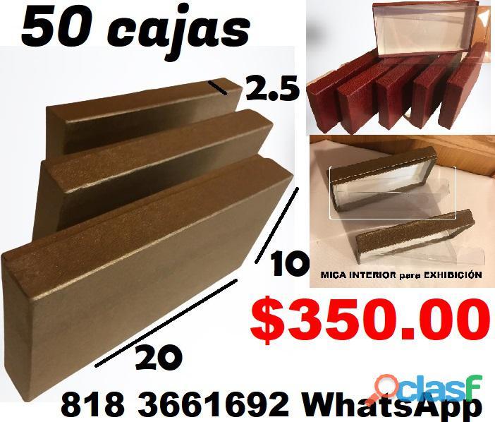 50 Cajas con Tapa y Mica interior para Exhibiciòn de su producto