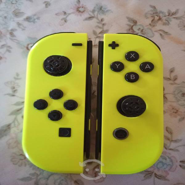 Joycons amarillos nintendo switch