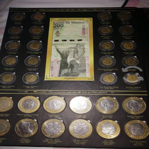 Album coleccionador monedas de 5, 10 y 20 pesos mé