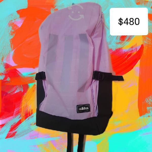 Nueva mochila adidas color lila