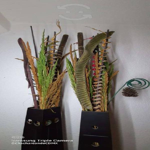 Adornos minimalistas hogar (floreros)