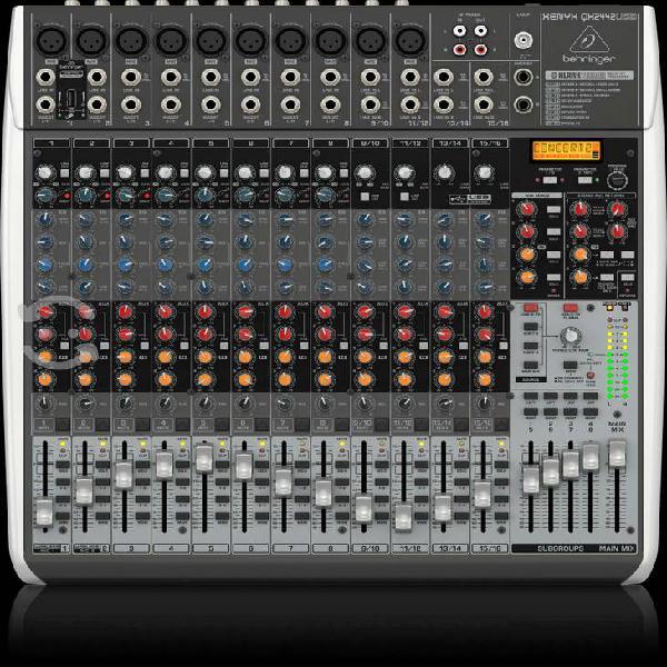Behringer mezcladora 24 canales c/usb serie xenyx