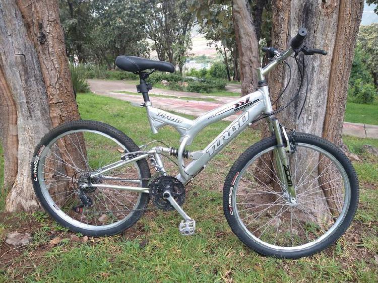 Bicicleta turbo, aluminio, r26, doble suspensión