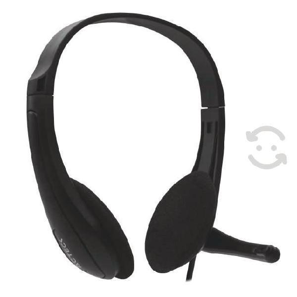 Diadema audifonos microfono conexion usb alambrica