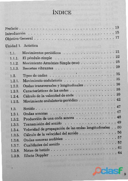 Física III, Acústica, Electricidad, Magnetismo, Óptica DGETI 1