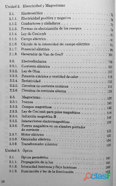 Física III, Acústica, Electricidad, Magnetismo, Óptica DGETI 2
