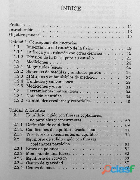 Libro Física I, Estática, Cinemática y Dinámica, DGETI 9