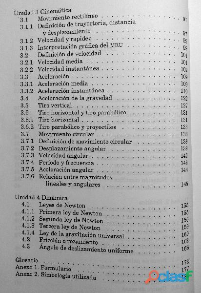 Libro Física I, Estática, Cinemática y Dinámica, DGETI 8