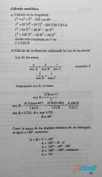 Libro Física I, Estática, Cinemática y Dinámica, DGETI 5