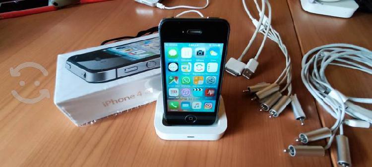 Iphone 4s liberado seminuevo, dock y batería adici