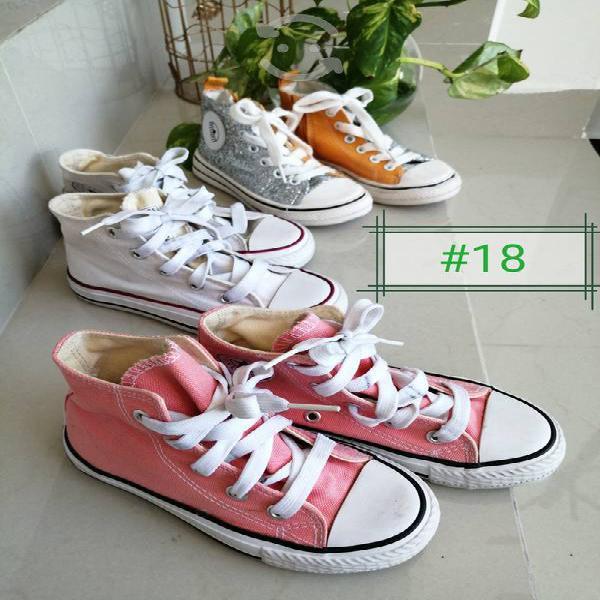 Lote zapatos niña # en cada foto