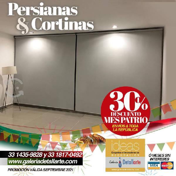Persianas, cortinas y toldos