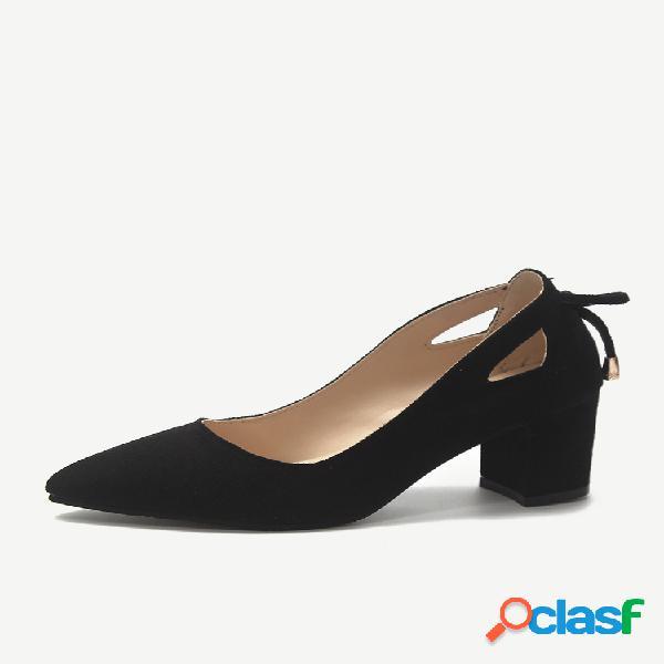 Mujer zapatos de tacón alto de gran tamaño y punta de boca baja