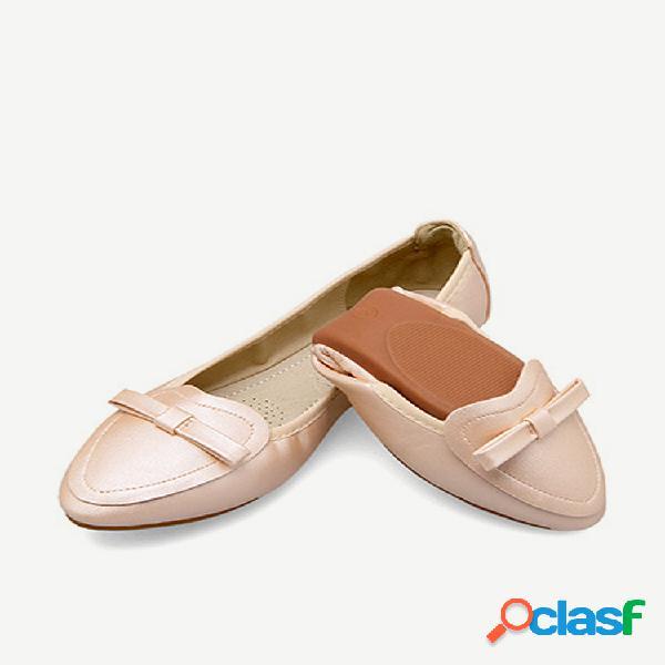 Mujer soft zapatos planos puntiagudos de gran tamaño