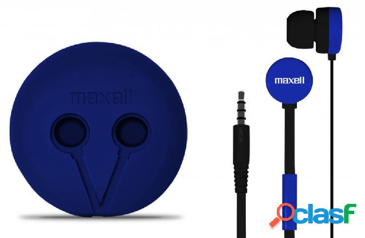 Maxell audífonos intrauriculares con micrófono wr-360, alámbrico, 1.2 metros, azul