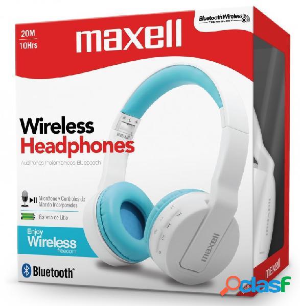 Maxell audífonos mxh-bt800, bluetooth, inalámbrico, azul