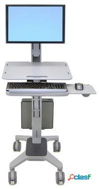 Ergotron estación de trabajo workfit-c single ld para trabajar sentado y de pie, para monitor hasta 27'', negro