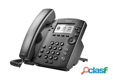 Poly teléfono ip vvx 300, alámbrico, 6 líneas, altavoz, negro