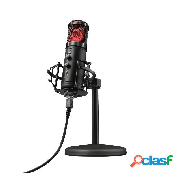 Trust micrófono gamer gxt 256 exxo, alámbrico, 150 ohm