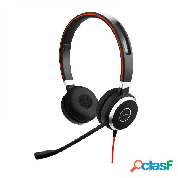 Jabra audífonos con micrófono evolve 40 ms stereo, alámbrico, 1.2 metros, usb-c, negro