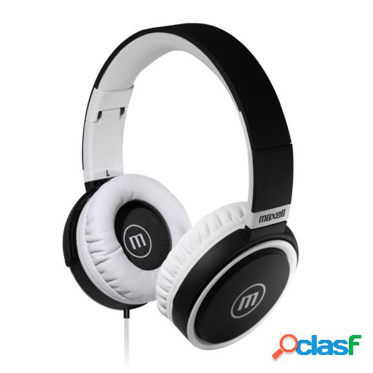 Maxell audífonos b-52, alámbrico, 3.5mm, blanco/negro