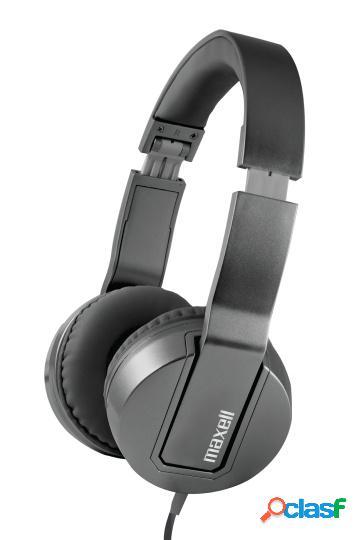 Maxell audífonos con micrófono solid2 metalz sms-10, alámbrico, 3.5mm, negro