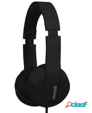 Maxell audífonos solid2, alámbrico, 1.5 metros, 3.5mm, negro